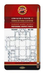 Олівці графітні 1500  Technic, НВ-10Н, 12 шт.