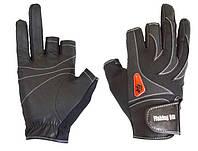 Перчатка спиннингиста Fishing ROI WK-05 black XXL (c 2 пальц.)