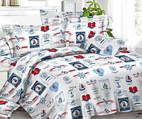 Подростковое полуторное постельное белье Бригантина, ранфорс 100%хлопок