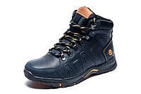 Зимние ботинки Timberland, мужские, темно-синие, натуральная кожа, р. 41 42 43 44 45
