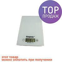 Весы кухонные электронные до 5кг Спартак CK-1912 White / весы для продуктов