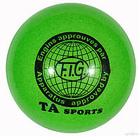 Мяч для художественной гимнастики зеленый TA sport.New!!! М'яч гімнастичний SP27110.