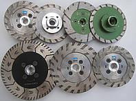 Алмазный диск шлифовальный, зачистной с фланцем для резки гранита Turbo 125x2,6x9x22,23 Sanky Korea