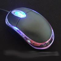 Мышь компьютерная оптическая проводная USB с подсветкой 800 dbi