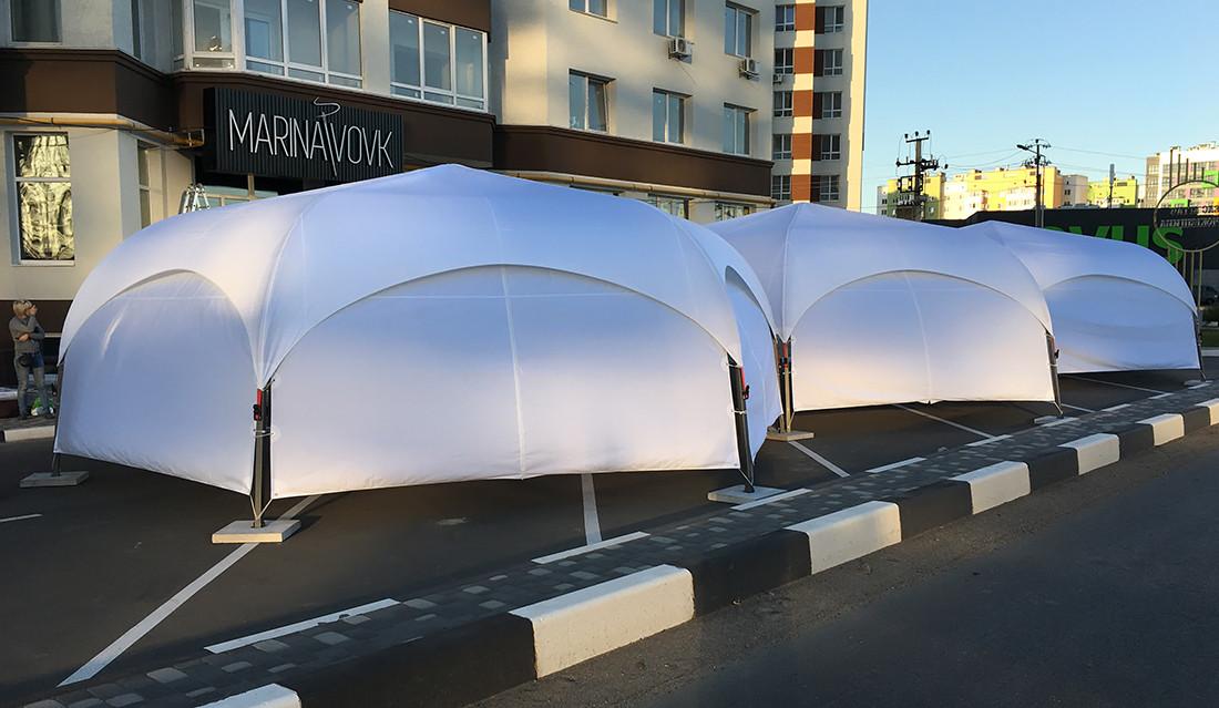 Палатка тентовая  PARK 6 со шторами, Украина Киев - цвет белый