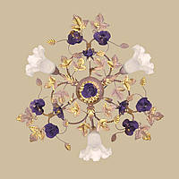 Люстра флористика вересковая с сиреневым 04545/3 PV