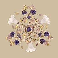 Люстра вересковая с сиреневыми розами 04545/3 PV