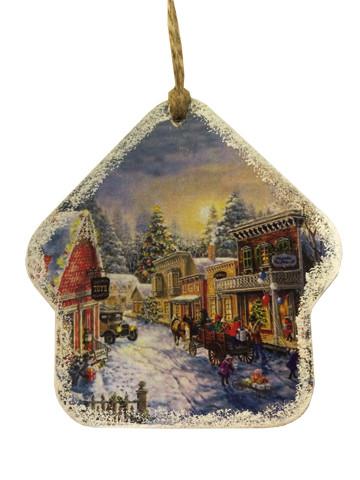 Деревянная игрушка-открытка на ёлку - Перша подарункова майстерня Compliment в Днепре