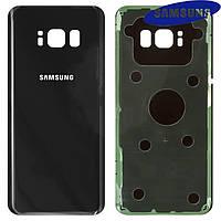 Задняя панель корпуса для Samsung Galaxy S8 G950F, черная (midnight black), оригинал