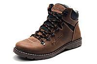 Зимние ботинки мужские Columbia, на меху, кожаные, коричневые,  р. 40 43 44