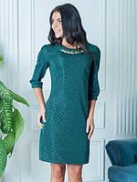 Платье с своеобразным рельефным рисунком