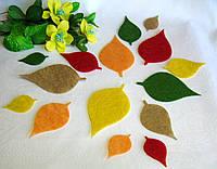 Осенние листья из фетра. Береза