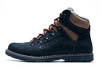 Зимние ботинки мужские Columbia, на меху, кожаные, черные, р. 40 41 42
