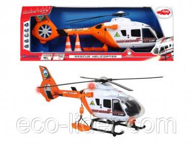 """Функциональный вертолет """"Спасательная служба"""" с аксес., звук. и свет. эффектами, 64 см, 3+"""