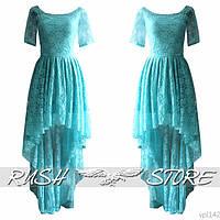 Асимметричное платье из гипюра