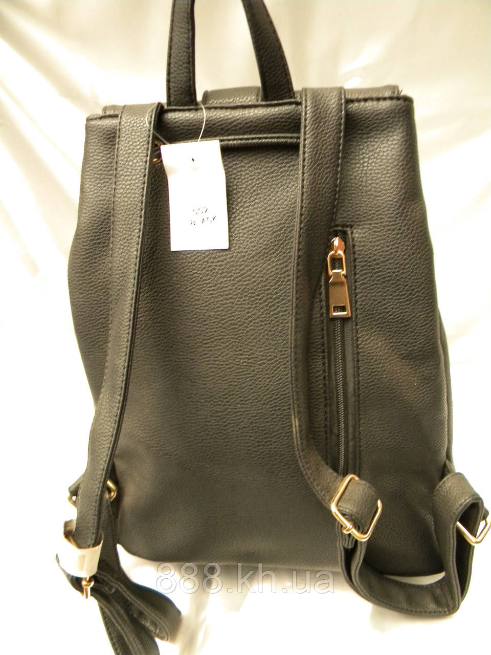 eeb1b6da9eec ... Стильный женский рюкзак, черный кожаный рюкзак, рюкзак для девочки,  фото 4