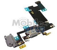 Шлейф с разъемом зарядки и наушников для Apple iPhone 6S Plus Grey
