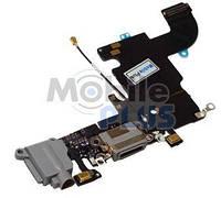 Шлейф с разъемом зарядки и наушников для Apple iPhone 6S Grey