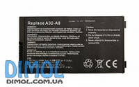 Аккумуляторная батарея для ноутбука Asus A8, F8, X80, 80F, Z99, black 5200mAhr, 11,1v