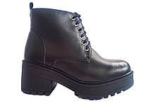 Модные женские ботинки на тракторной подошве, эко-кожа In-Trend 9510