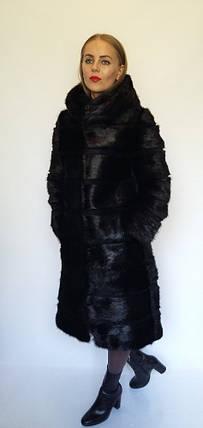Шуба трансформер с капюшоном из меха нутрии, фото 2