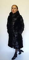 Шуба трансформер с капюшоном из меха нутрии