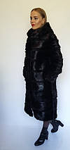 Шуба трансформер с капюшоном из меха нутрии, фото 3