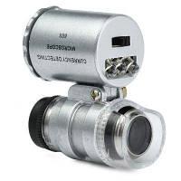 Кишеньковий мікроскоп MG 9882 60X з LED і ультрафіолетової підсвічуванням