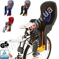 Велокресло детское PROFI усилен.кронштейн, задн.крепл, 5-точечные ремни, регул фиксаторы для ног, мягкая накл на кресло, до 22 кг, от 9 мес. до 5 лет,