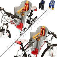 Велокресло детское PROFI усилен.кронштейн, перед.крепл, 5-точечные ремни, регул фиксаторы для ног, мягкая накл на кресло, до 15 кг, до 3 лет, 3 цвета