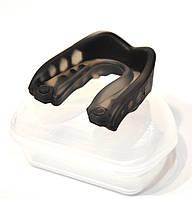 Капа одночелюстная силикон черно-прозрачная