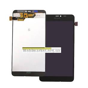 Модуль (дисплей+сенсор) для Microsoft (Nokia) 640 XL Lumia Dual SIM чорний, фото 2