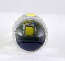Светодиодная лампа в габарит под цоколь W5W(T10) светодиоды 5630+ Cree 3W  с линзой, Белый, фото 2