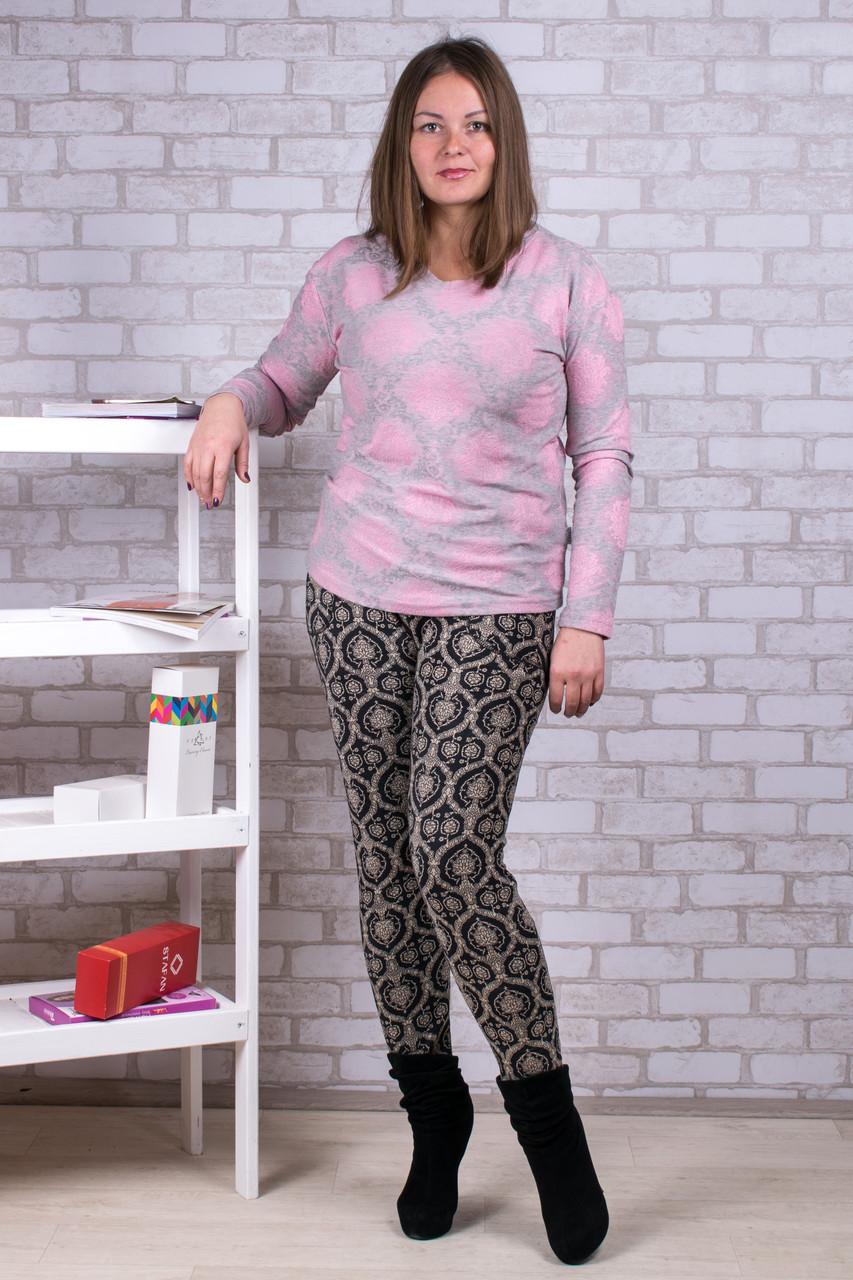Женские штаны на меху Золото А917-1-4 5XL. Размер 52-56.