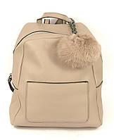 Рюкзак бежевый женский эко-кожа, фото 1