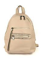 Женский рюкзак с мягкими лямками бежевый
