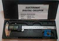 Штангенциркуль электронный VERNIER 150 (T304М. W-1215М) металический D - 150 мм, точность 0,01 мм, с бегунком