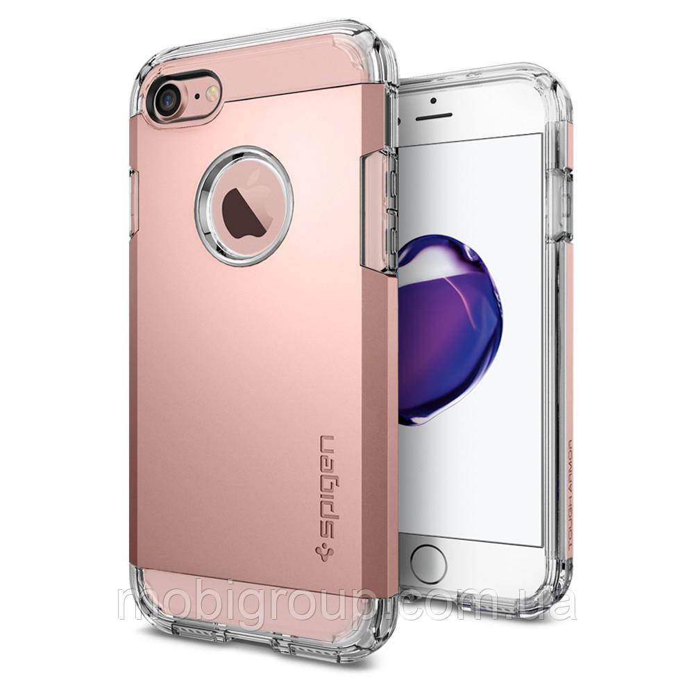 Чехол Spigen для iPhone 7 Tough Armor, Rose Gold
