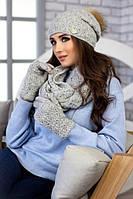 Комплект «Арианда» (шапка, снуд и перчатки)