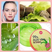 Увлажняющая сыворотка для лица и тела Aloe Vera & Snail Serum Soothing Gel Cathy Doll