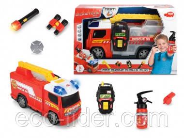 """Автомобиль """"Пожарная помощь"""" с набором пожарного, звук. и свет. эффектами, 33 см, 3+"""