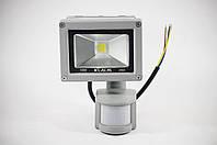 Cob Светодиодный LED Прожектор 10W С Датчиком Движения