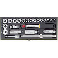 """Компактный набор PROXXON с трещоткой на 3/8"""" для головок 6-24 мм, 20 позиций"""