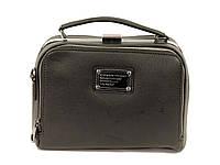 Компактная сумка саквояж черная через плечо