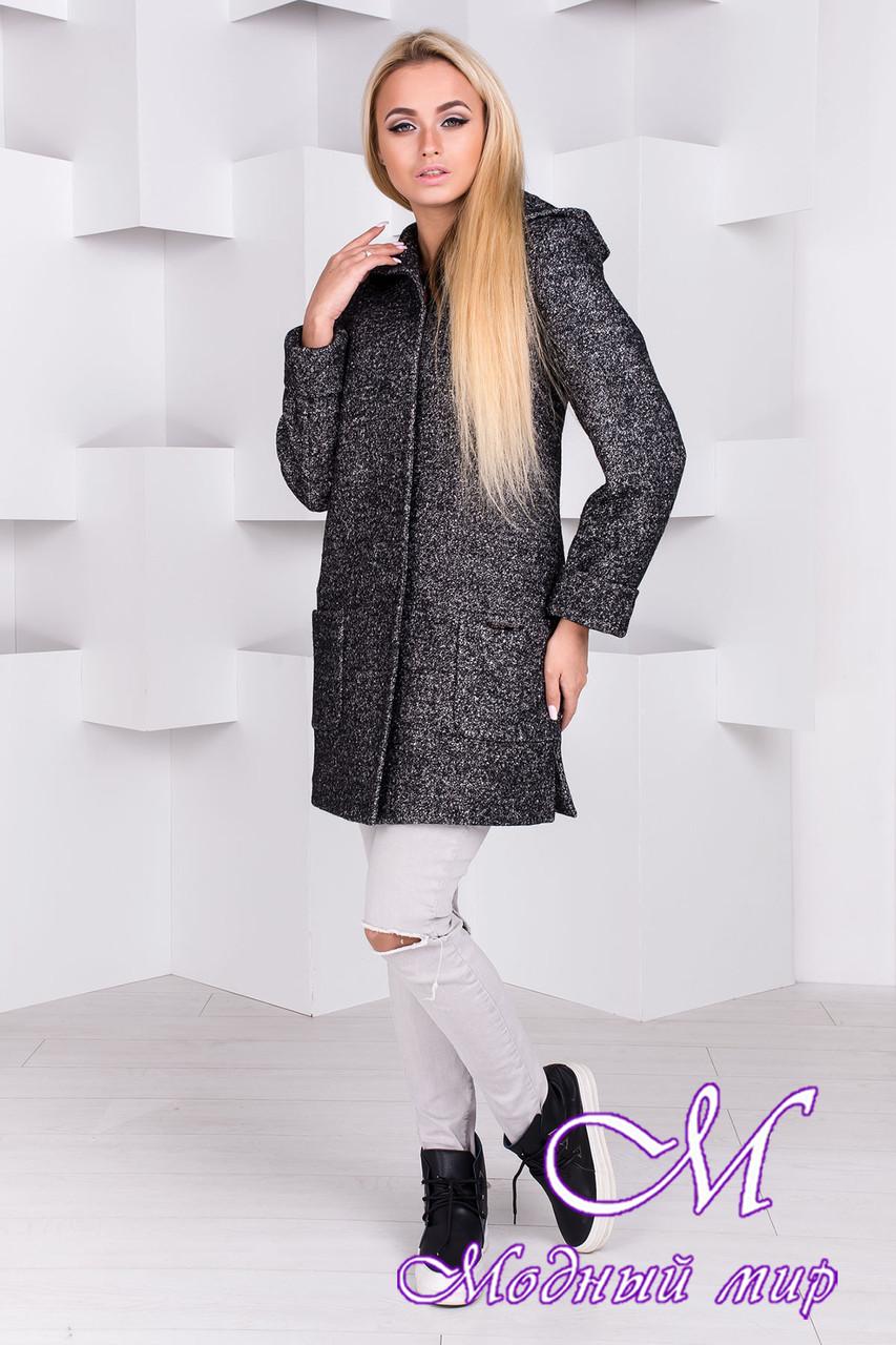 Весеннее женское пальто с капюшоном (р. S, M, L) арт. Эльза 1353 - 8860