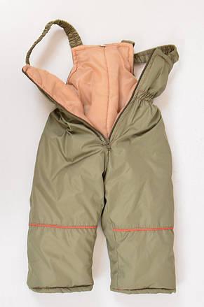 Утепленный демисезонный комбинезон - курточка и полукомбинезон для мальчика, фото 2