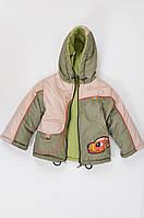 Утепленный демисезонный комбинезон - курточка и полуклмбинезон для мальчика
