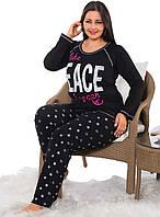 Хлопковая пижама больших размеров Elitol 16027-B