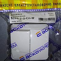Выключатель 2-кл. B310-2-0-Cm-W / Вимикач. 2-кл. B310-2-0-Cm-W (білий)