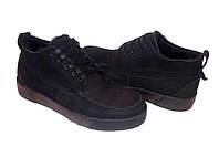 Ботинки мужские зимние замшевые натуральные черные 0465УКМ